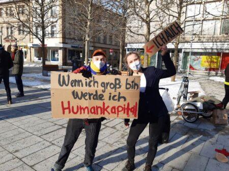 Demonstration gegen das neue Hochschulgesetz